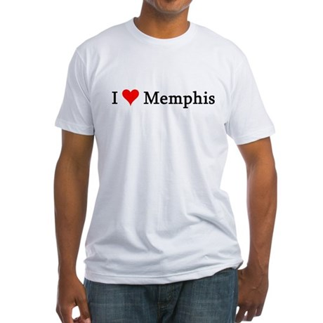 I Love Memphis Fitted T-Shirt