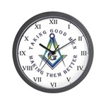 Taking Good Men Masonic Wall Clock (Roman)