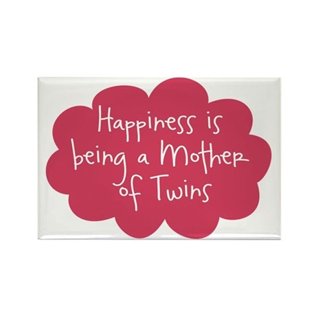 A Mother of Twins Rectangle Magnet