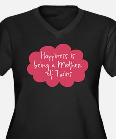 A Mother of Twins Women's Plus Size V-Neck Dark T-