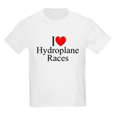 """I Love (Heart) Hydroplane Races"" T-Shirt"