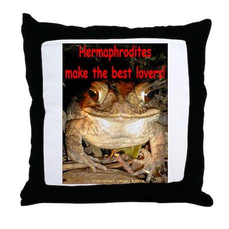 Hermaphrodite Throw Pillow
