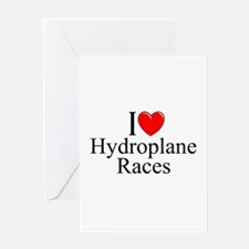 """I Love (Heart) Hydroplane Races"" Greeting Card"
