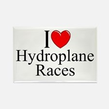 """""""I Love (Heart) Hydroplane Races"""" Rectangle Magnet"""