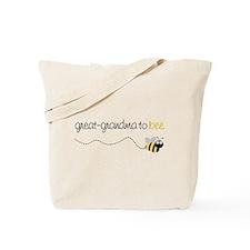 great grandma to be t-shirt Tote Bag