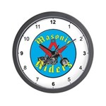 Masonic Bike Riders Wall Clock