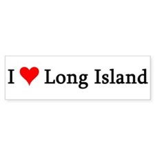 I Love Long Island Bumper Bumper Sticker