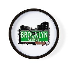 BROOKLYN AVENUE, BROOKLYN, NYC Wall Clock