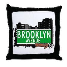 BROOKLYN AVENUE, BROOKLYN, NYC Throw Pillow