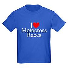 """""""I Love (Heart) Motocross Races"""" T"""
