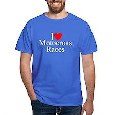 """I Love (Heart) Motocross Races"" T-Shirt"