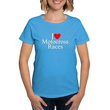 """I Love (Heart) Motocross Races"" Tee"
