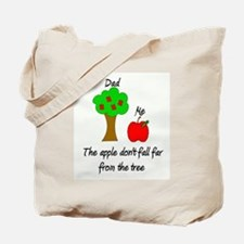 Father's Day Apple Tree Tote Bag