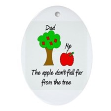 Father's Day Apple Tree Oval Ornament