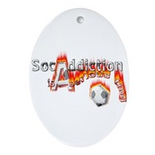 Socaddiction is a serious ting - Oval Ornament