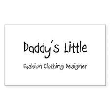 Daddy's Little Fashion Clothing Designer Decal