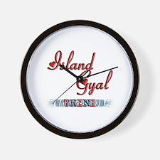 Island Gyal - Trini - Wall Clock