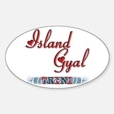 Island Gyal - Trini - Oval Decal