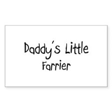 Daddy's Little Farrier Rectangle Decal