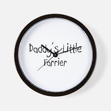Daddy's Little Farrier Wall Clock