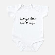 Daddy's Little Farm Manager Infant Bodysuit