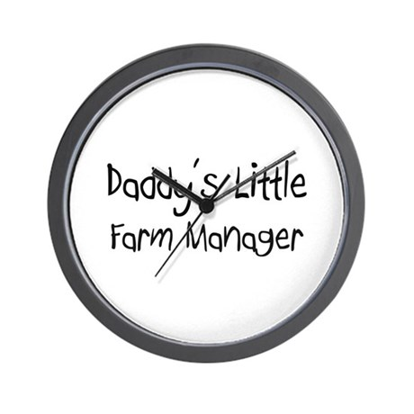 Daddy's Little Farm Manager Wall Clock