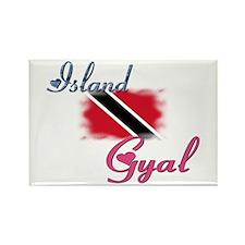 Island Gyal - Trini Rectangle Magnet