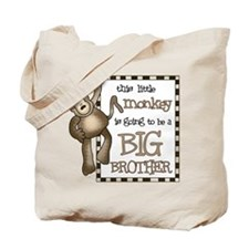 big brother t-shirt monkey Tote Bag