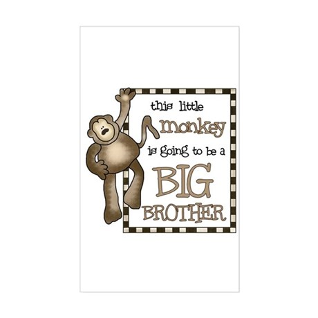 big brother t-shirt monkey Rectangle Sticker