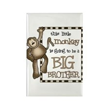 big brother t-shirt monkey Rectangle Magnet