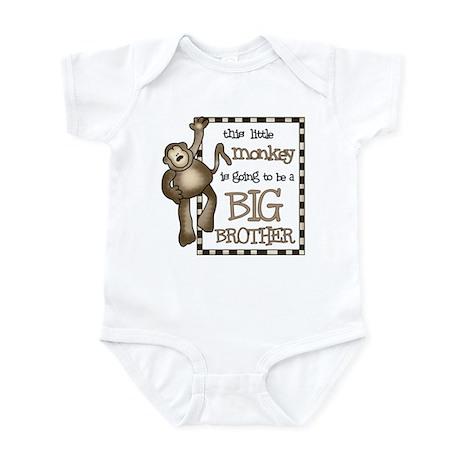 big brother t-shirt monkey Infant Bodysuit