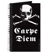 Carpe Diem Skull and Crossbones Journal