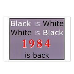 1984 Big Bro Propaganda lies on Postcards (Package