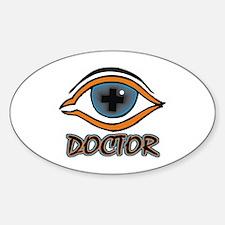 Eye Doctor Oval Decal