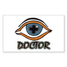 Eye Doctor Rectangle Decal