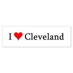I Love Cleveland Bumper Bumper Sticker