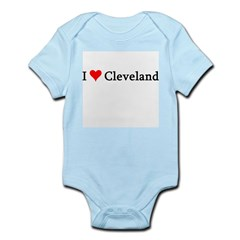 I Love Cleveland Infant Creeper