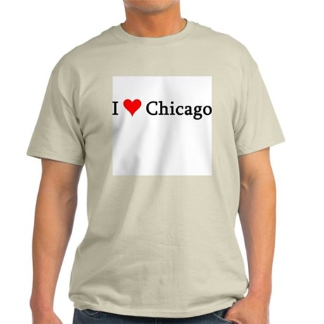 I Love Chicago Ash Grey T-Shirt