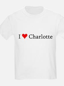 I Love Charlotte Kids T-Shirt