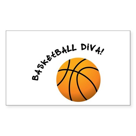 BBall Diva Rectangle Sticker