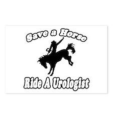 """Save a Horse...Ride A Urologist"" Postcards (Packa"