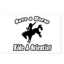 """""""Save Horse, Ride Scientist"""" Postcards (Package of"""