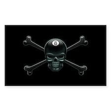 Pool Pirate III Rectangle Decal
