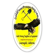 Gold Fever Prospecting Oval Decal