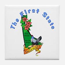 Delaware Pride! Tile Coaster