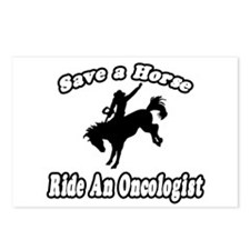 """""""Save Horse, Ride Oncologist"""" Postcards (Package o"""