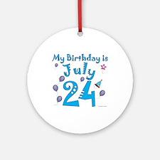 July 24th Birthday Ornament (Round)