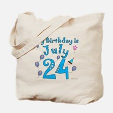 July 24th Birthday Tote Bag