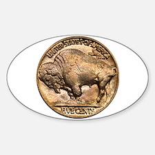 Nickel Buffalo Oval Decal