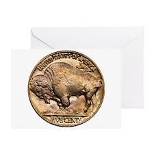 Nickel Buffalo Greeting Card